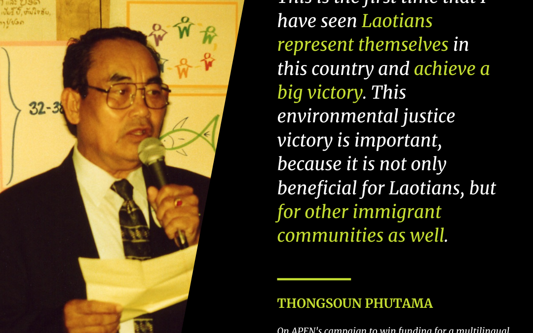 A Lifetime of Commitment: Honoring Thongsoun Phuthama