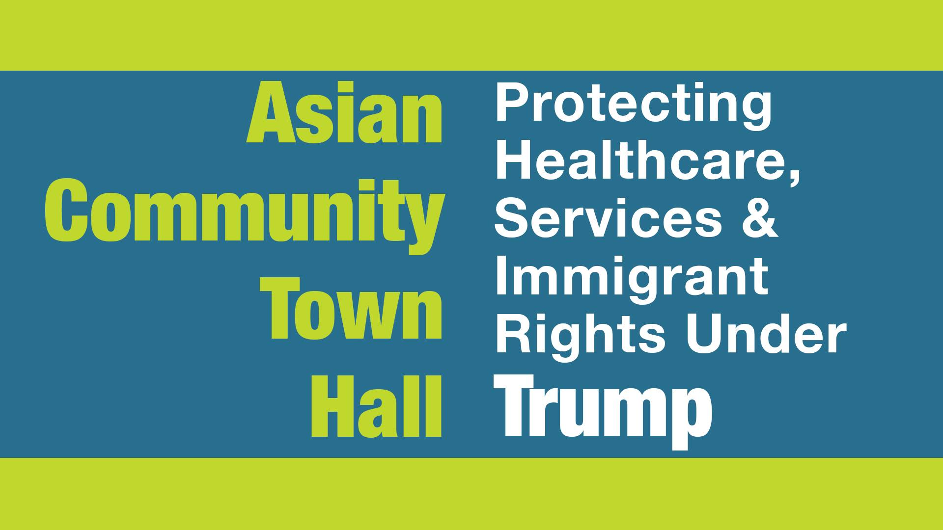 This Thursday: Asian Community Town Hall